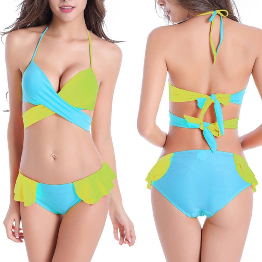 Sexy Women's Bikini Push-up Padded Swimsuit Bra Swimwear Bathing Suit Leopard