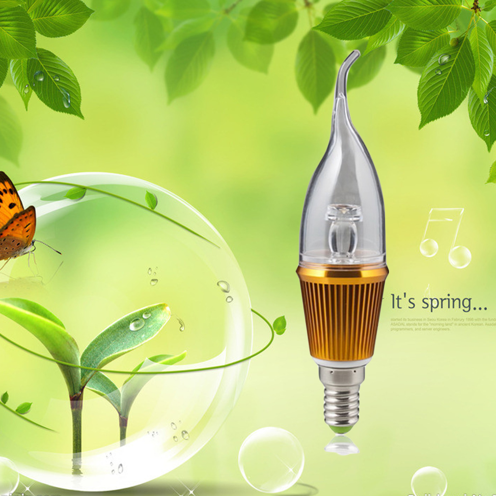 3W E14 High Power Warm White Energy-Saving LED Candle Light Bulb Lamp 85~265V