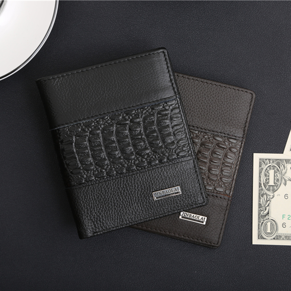 JINBAOLAI Man Purse Men For Male Holding Cash Cards Opening Style Soft Wallet
