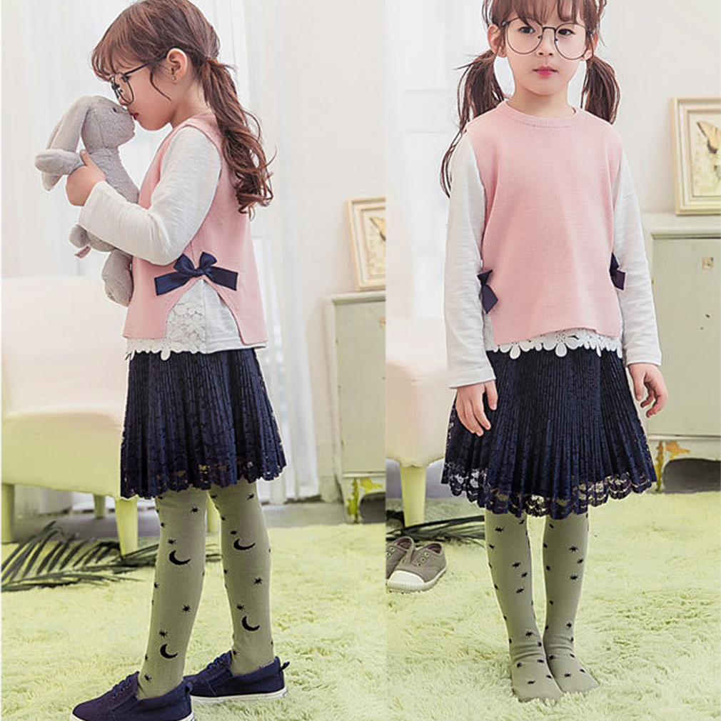 Fashion Children Cotton Knee High Baby Cotton Socks for 1-6year Girls