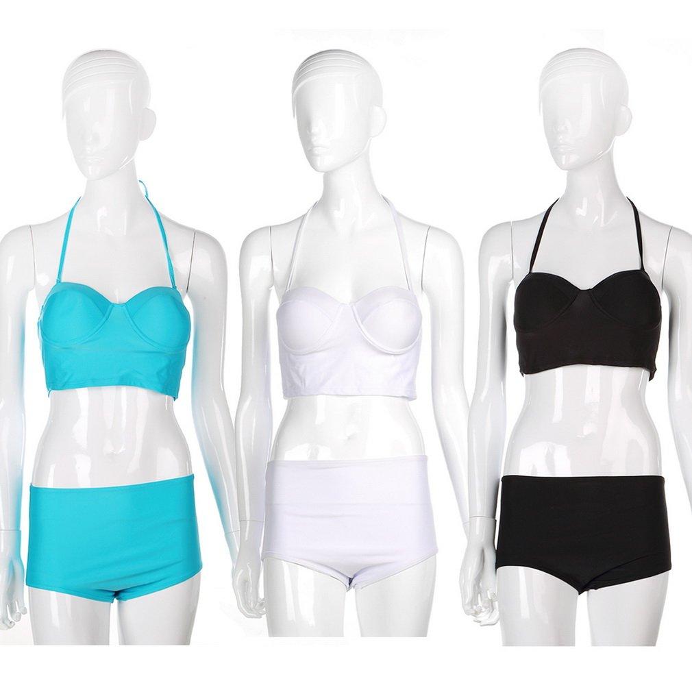 Fashion Womens Sexy High Waisted Bikini Set Swimwear Swimsuit Underwear