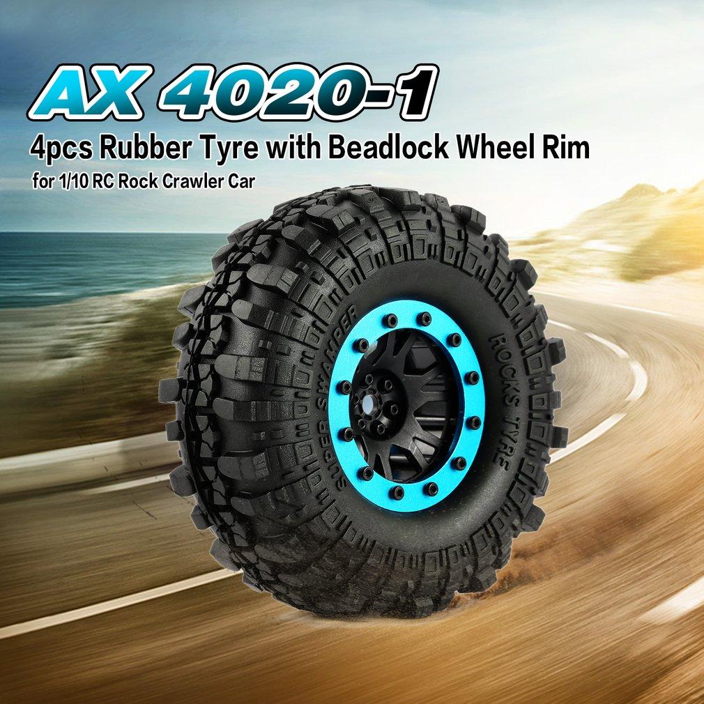 AX 4020-1 110mm 1.9in Tire Beadlock Wheel Rim for 1/10 SCX10 90046 D90 RC Car