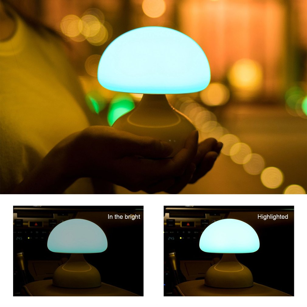 Rechargeable LED Night Light Silicone Innovative Mushroom Light For Bedroom