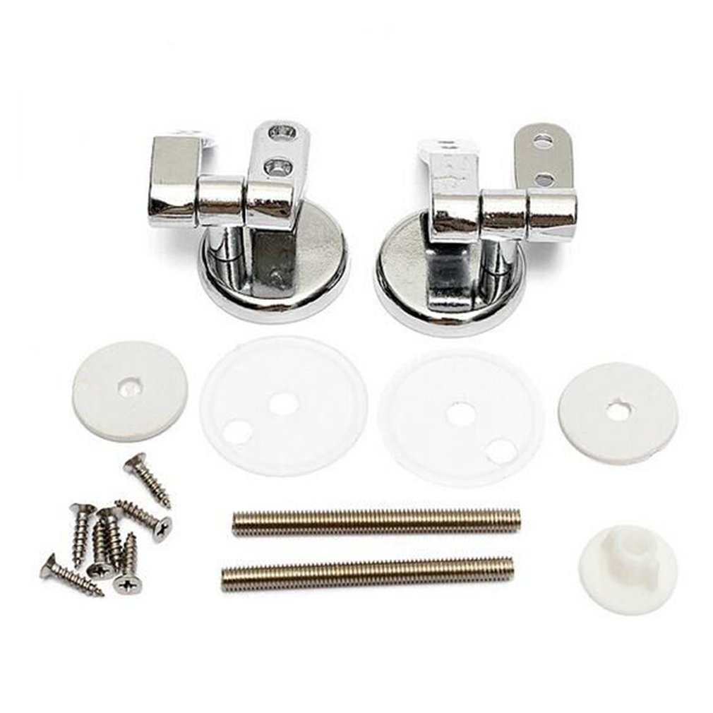 Zinc Alloy Toilet Hinge With Fittings Screw Replacement Closestool Seat Hinges