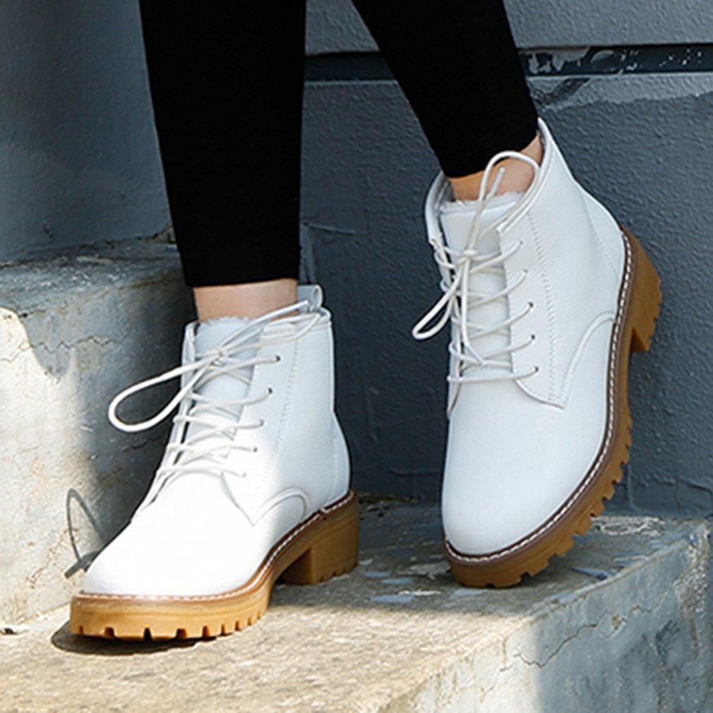 RENBEN 12130 Vintage Martin Boots Plush Women Winter Shoes High Upper Shoes