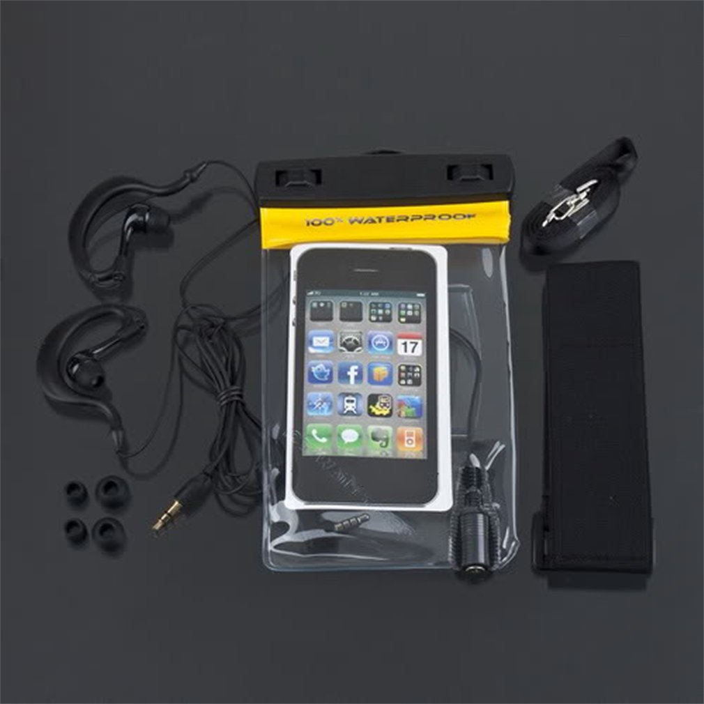 NEW Swimming Sport MUSIC IN WATER Waterproof Cell Phone Case Bag 145*95mm