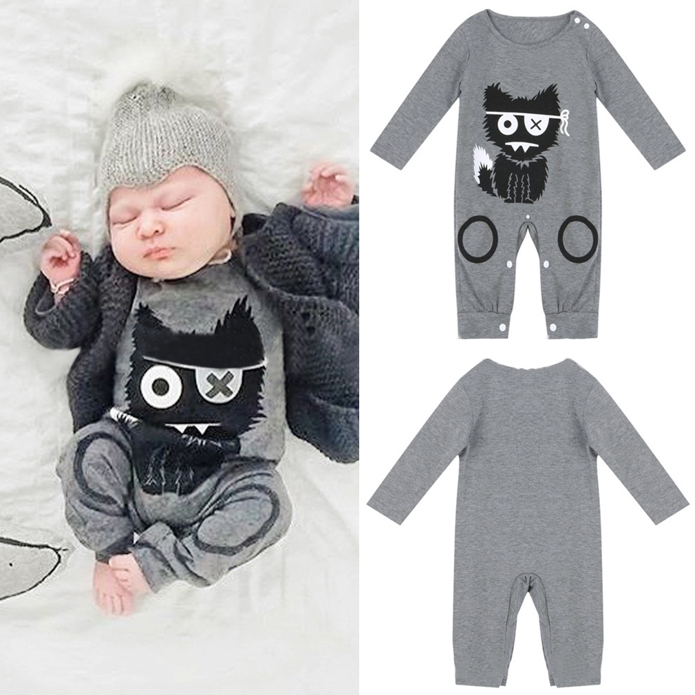 Kids Baby Long Sleeve Romper Jumpsuit Cotton Clothing Set For Baby Boys Girls