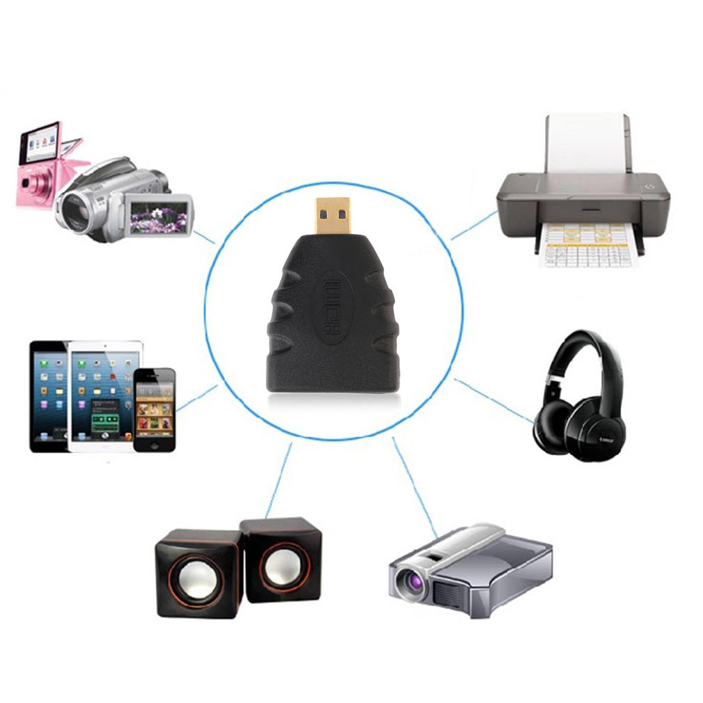 HDMI Type A Female-HDMI Type D Male Gold-plated Adapter Converter Connector