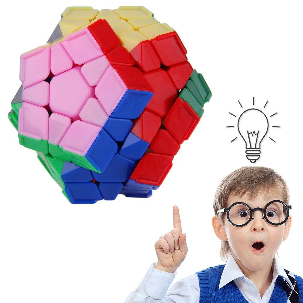 Smooth Speed 12-Sided Maigc Cube Twist Puzzle Toy Brain Teaser Game Gift