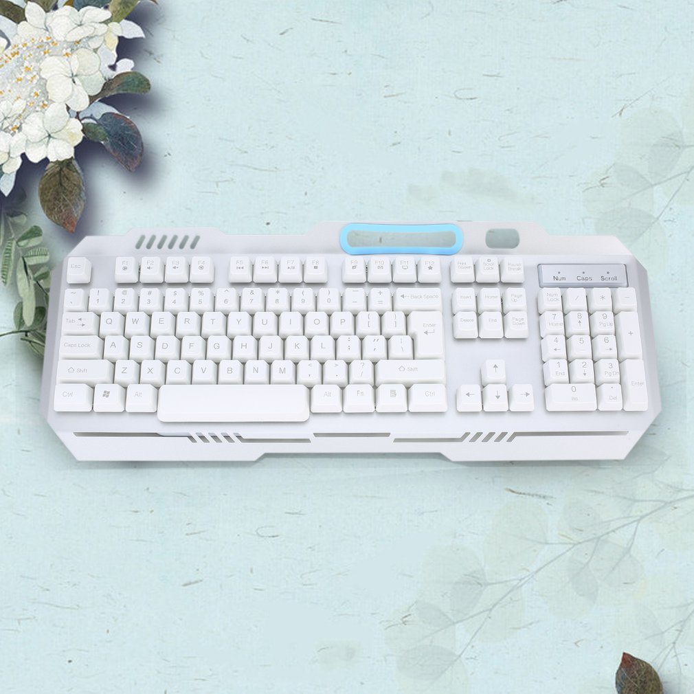 Metal Cable Mechanical Colorful Backlit Keyboard Computer Suspension Keyboard