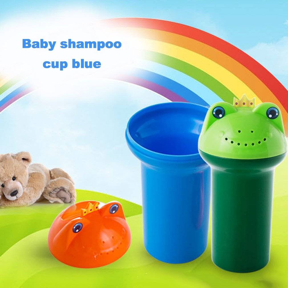 The New Cartoon Frogs Shape Baby Shampoo Shield Shower Cup Bath Products