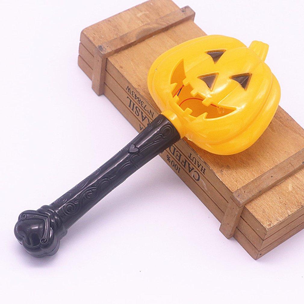 Halloween Pumpkin Ghost Magic Wand Luminous Witch Wand Funny Children Toys