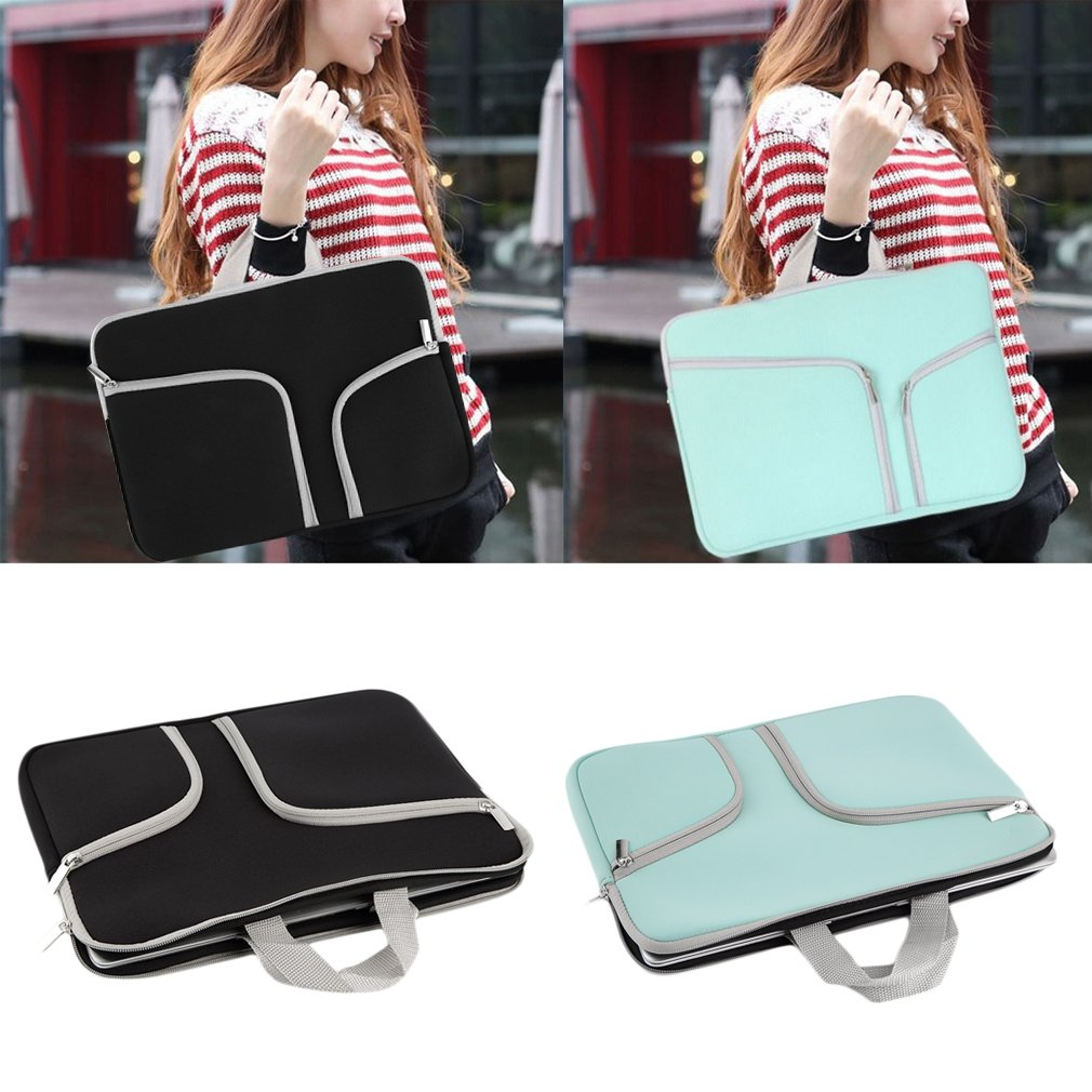 Portable Laptop Notebook Computer Sleeve Zipper Pockets Carry Bag Case