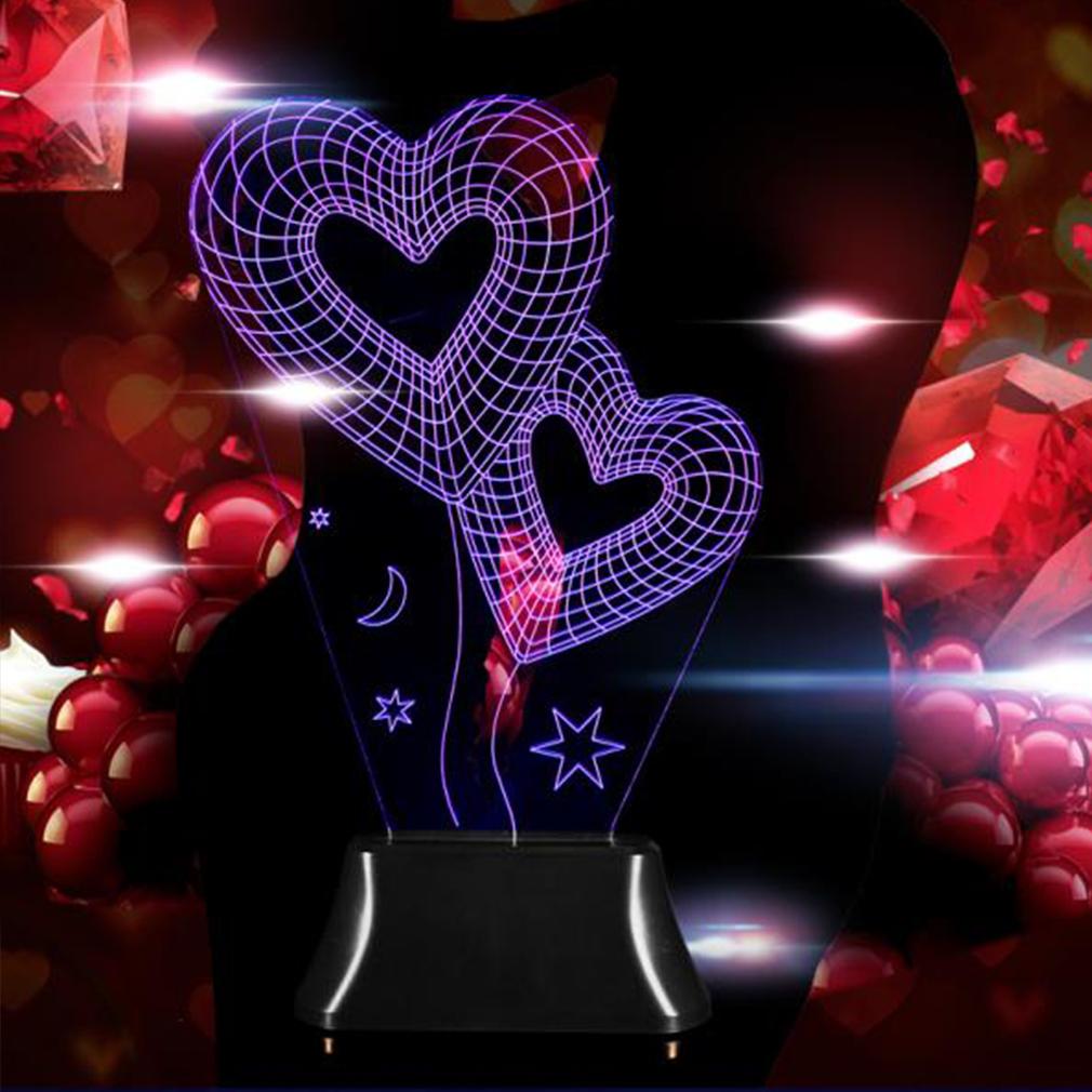 Amazing 3D Illusion Bulbing Four Patterns LED Night Light Deco Table Lamp