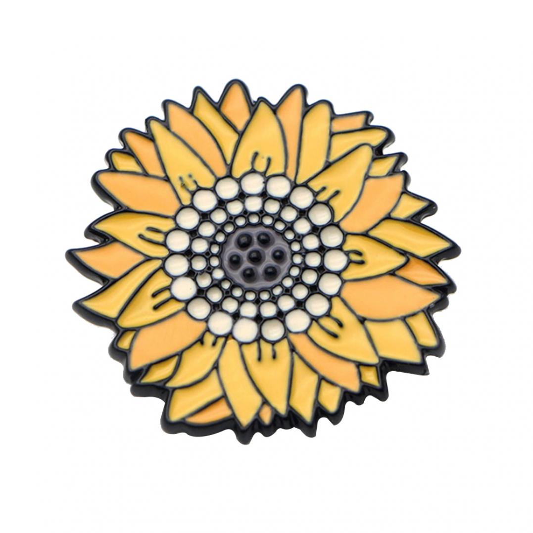 Women's Vivid Sunflower Shape Brooch