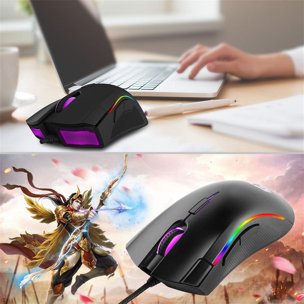Delux M625 PMW3360 Colorful RGB Mouse Luminous Shining One-piece Mouse