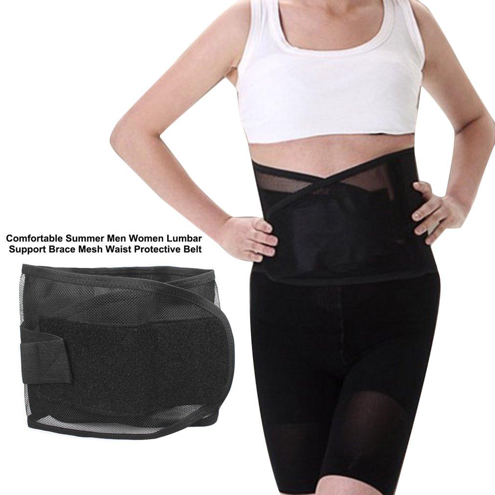 Comfortable Summer Men Women Lumbar Support Brace Mesh Waist Protective Belt