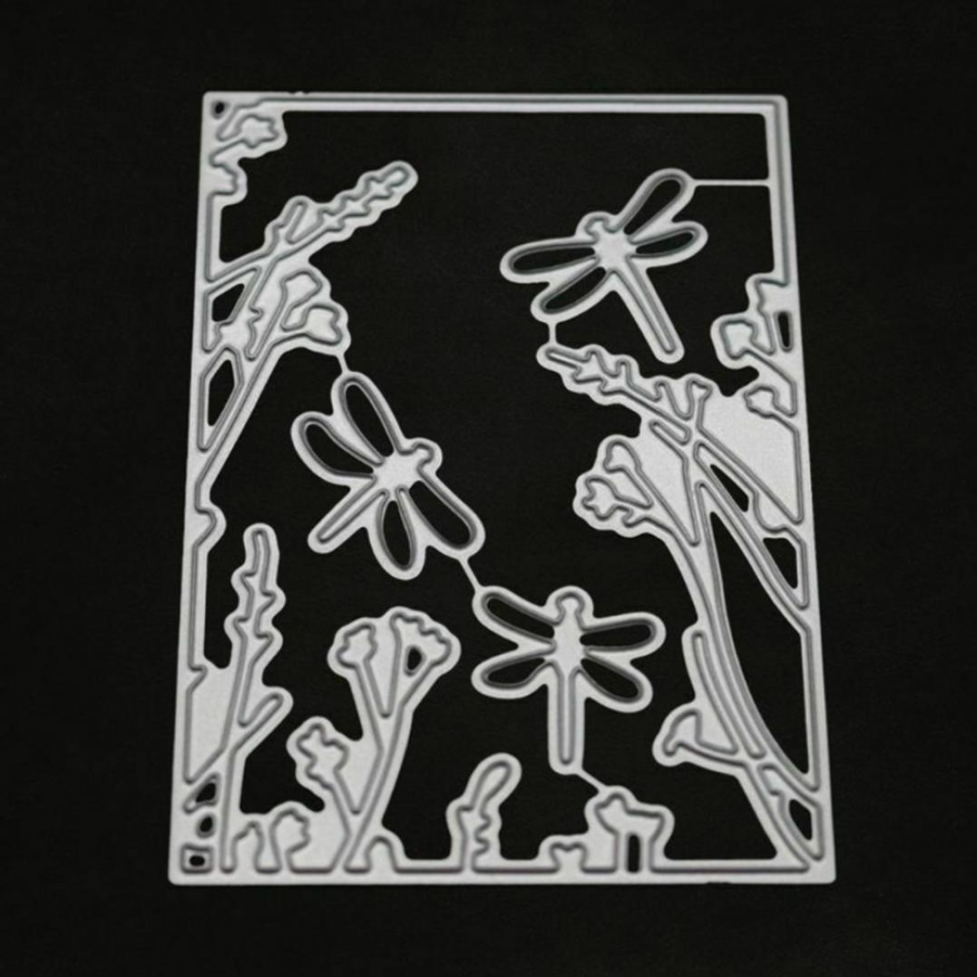 Dragonfly Plant Metal Cutting Dies DIY Scrapbooking Paper Cards Craft Stencil