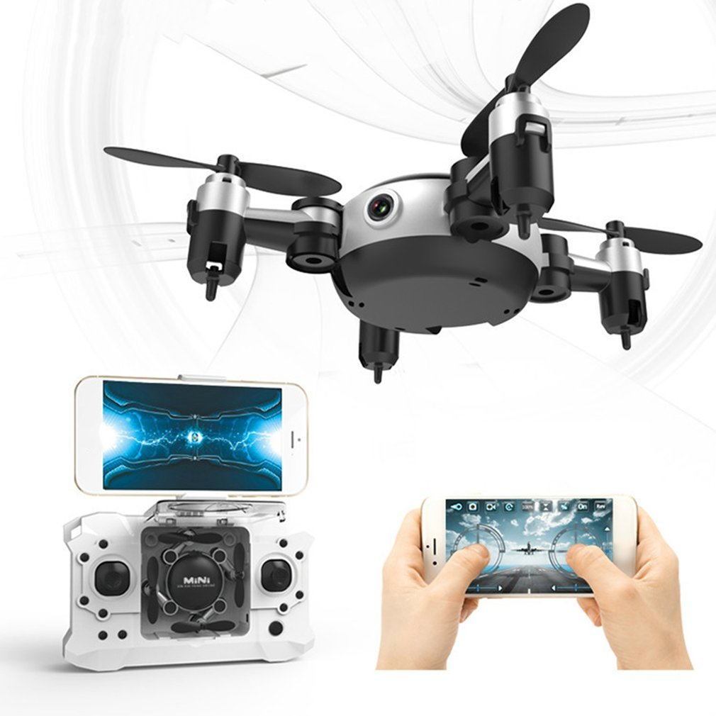 Mini Folding Remote Helicopter Mode Drone With HD Camera Quadcopter Toys