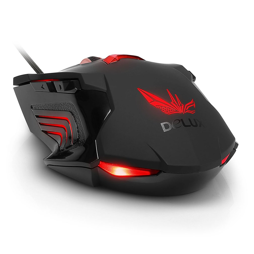 Delux M811LU Gaming Mouse Gamer USB Wired Ergonomics Design Laptop PC Mice
