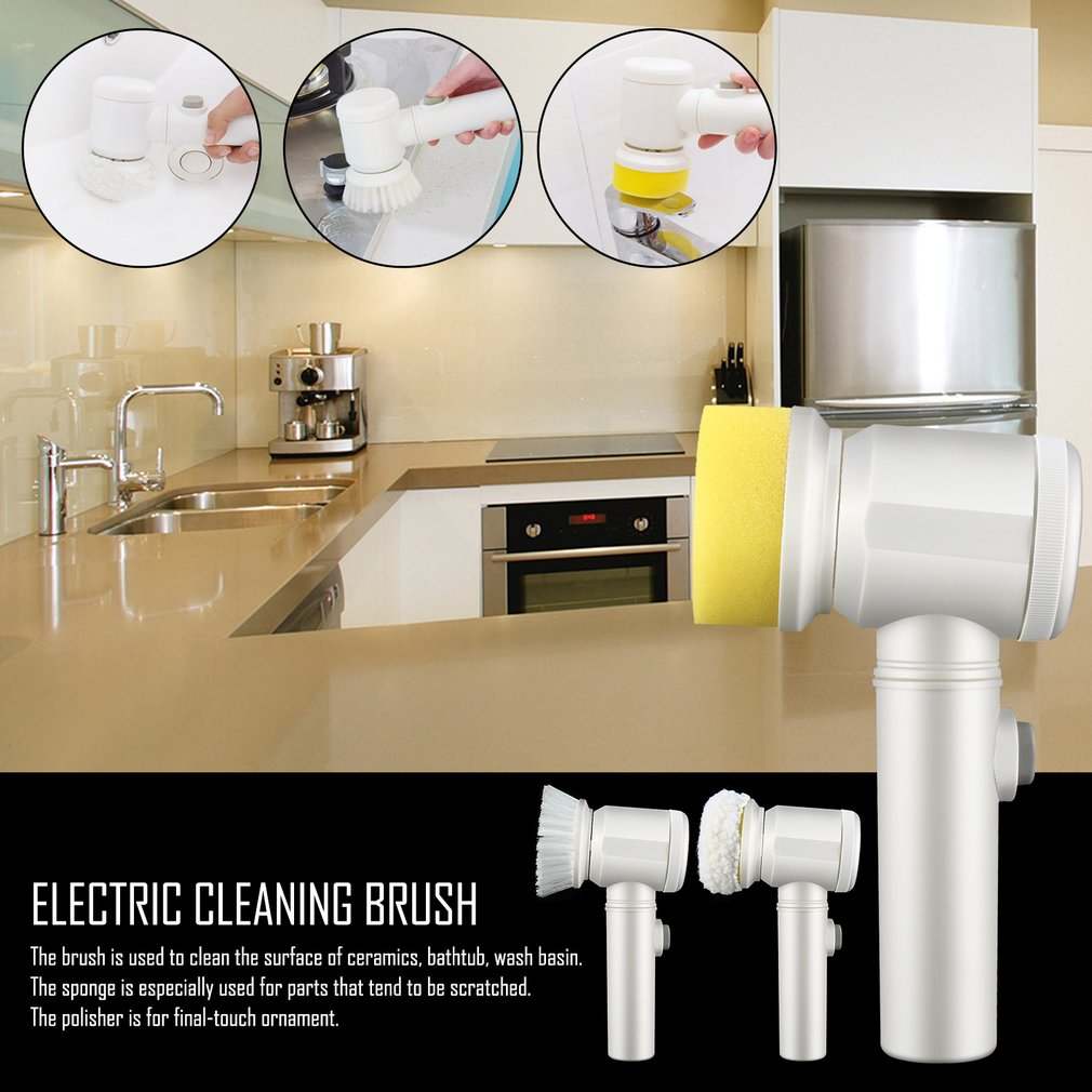 5 in 1 Electric Cleaning Brush Battery Powered Cordless Scrubbing Brush