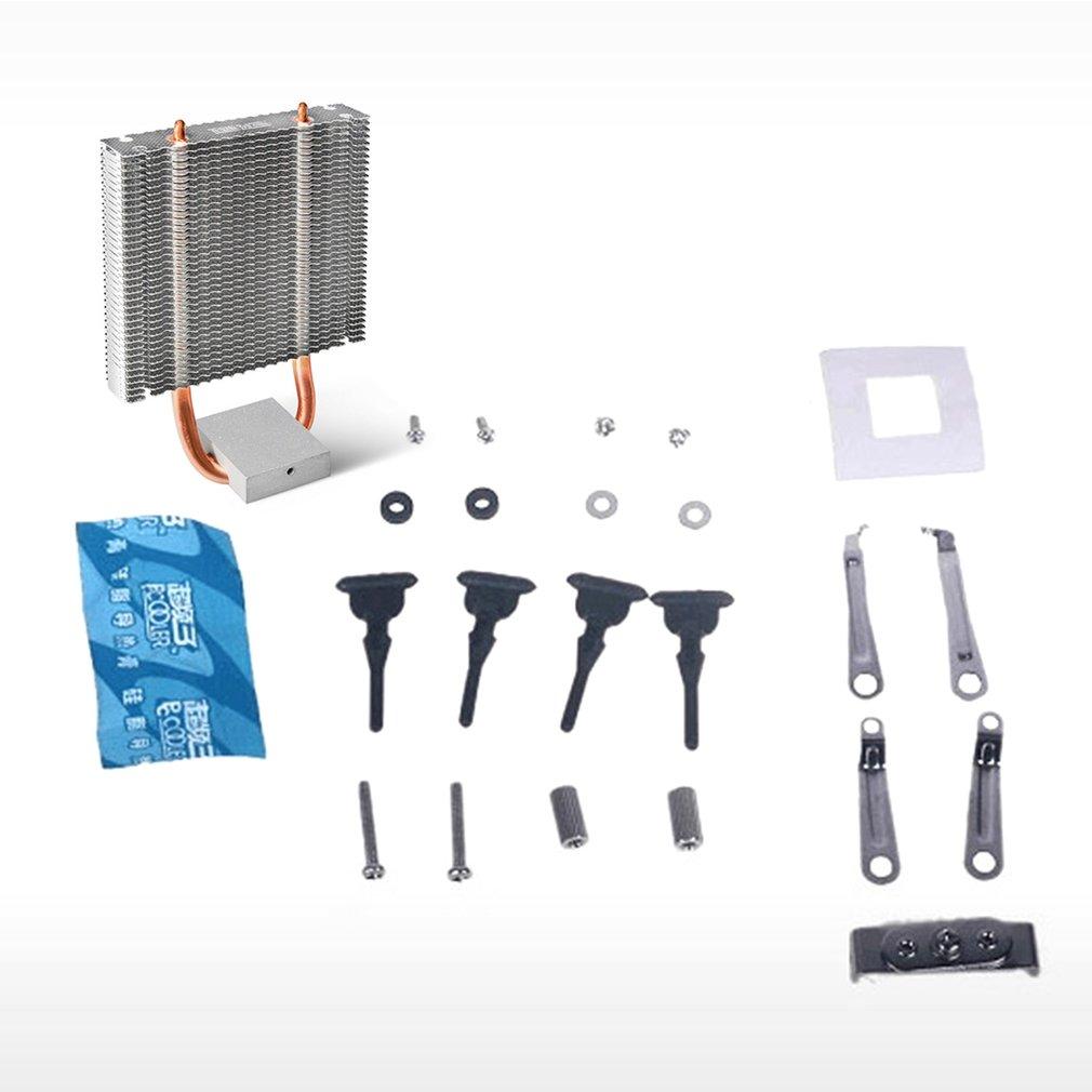 PCCOOLER CPU Cooler HB-802 2 Heatpipes Radiator Aluminum Heatsink Motherboard Northbridge Cooler Support 80mm CPU Fan