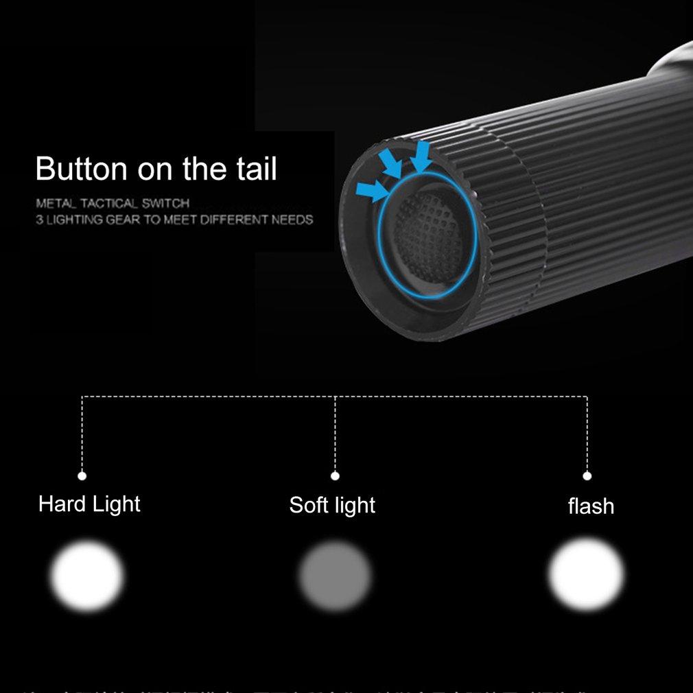 Outdoor Sports Torch Aluminium Alloy Flashlight Mini LED Flashlight Portable