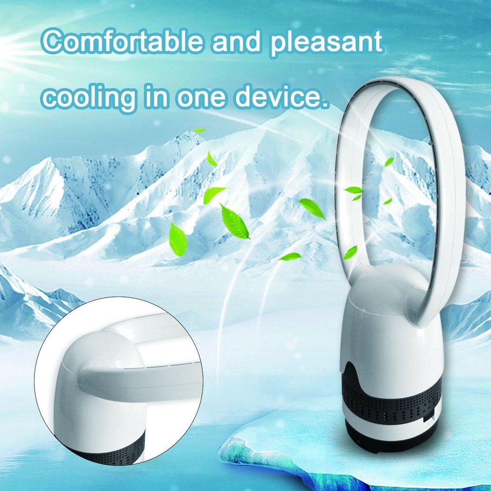 36 inch Black Bladeless Remote Control Ultra-quiet Electric Fan No Leaf Fan
