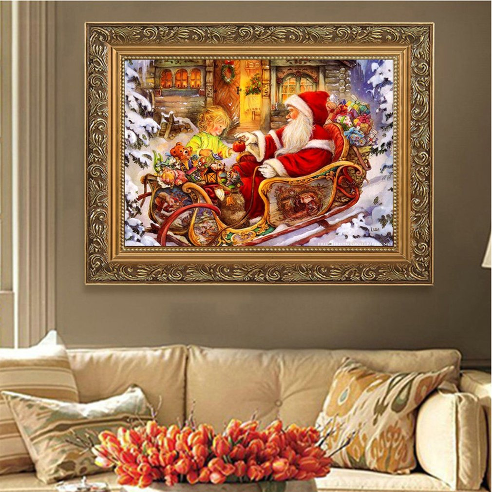 40*30cm Diamond Embroidery Painting Unfinished Decorative Christmas Gift