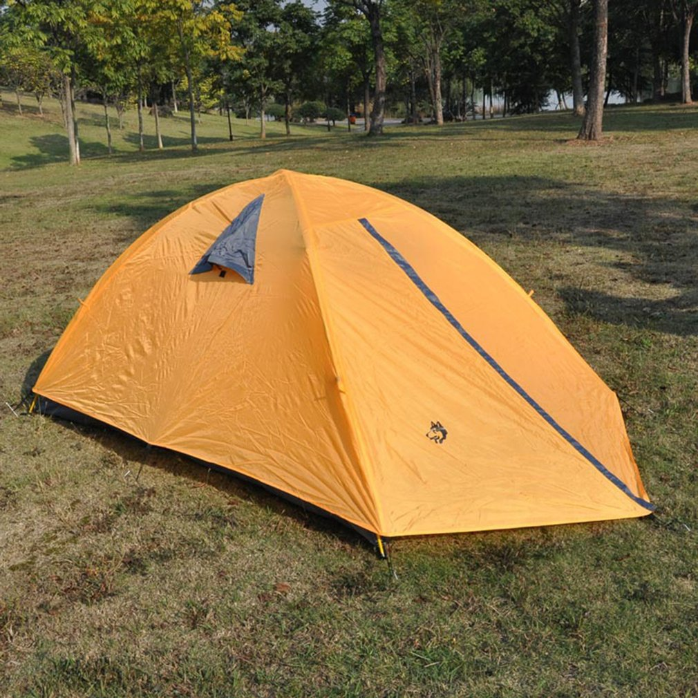 Hasky 001 Fiberglass Rod Camping Tent For Outdoor Hiking Picnic Beach Tent