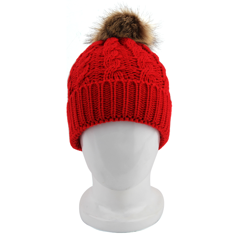 2Pcs Mom And Baby Hats Fashion Winter Crochet Knitted Keep Warm Beanie Cap