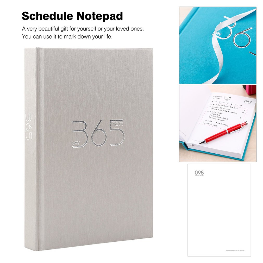 Hardcover 365 Days Planner Students Personal Diary Journal Notebook Notepad Notebook School Office Stationery