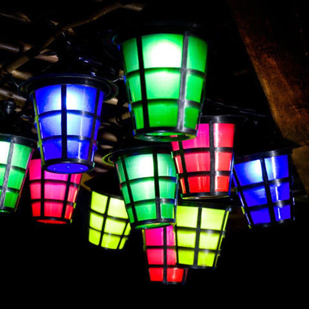 Ip44 20 LED Bird Cage Outdoor Garden Solar Hanging Lantern String Light