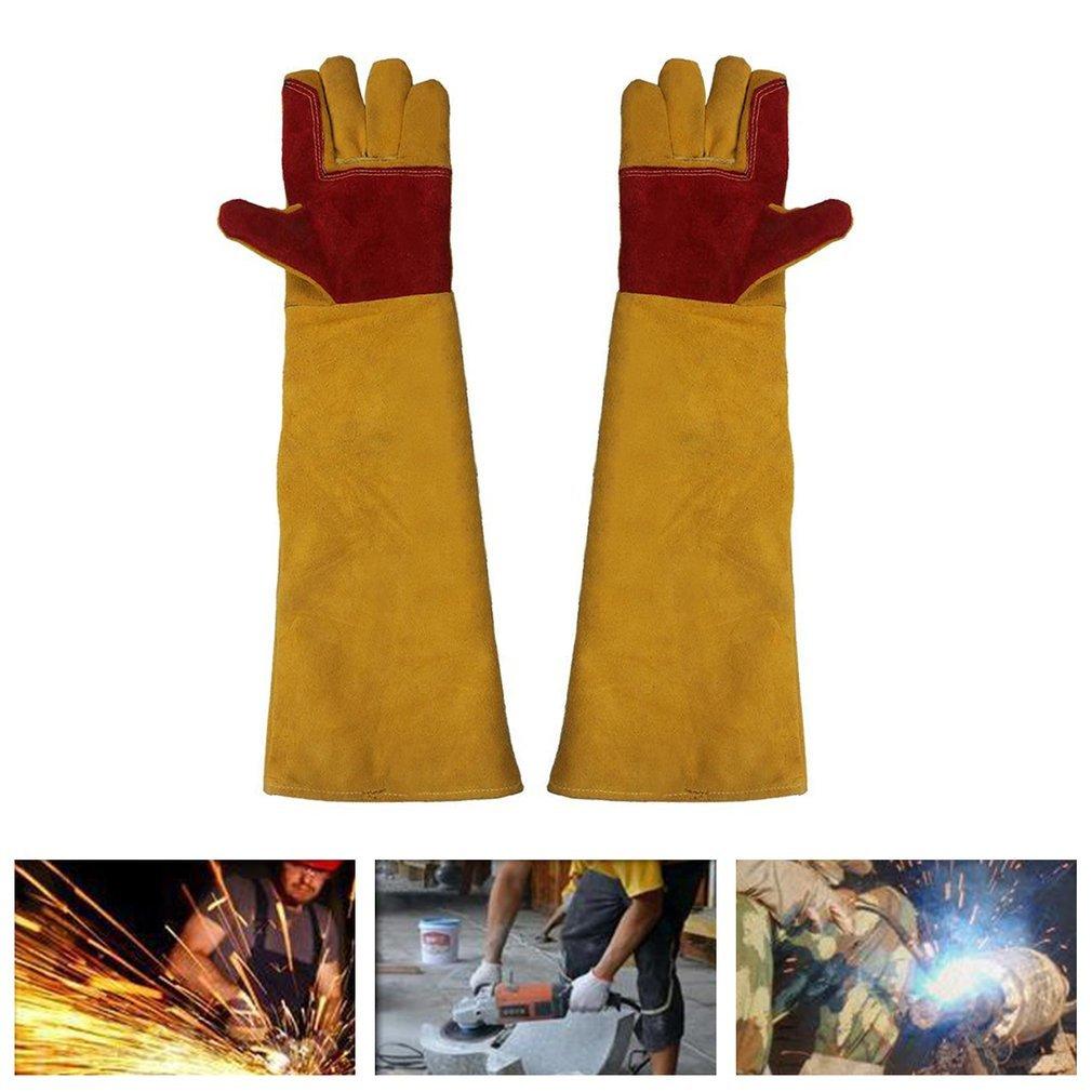 Lengthening Working Gloves Wear Resistant Electric Welding Soldering Gloves