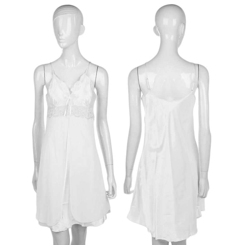 Women's Lace Short Nightgowns Chiffon Spaghetti Straps Sleepwears Pajamas
