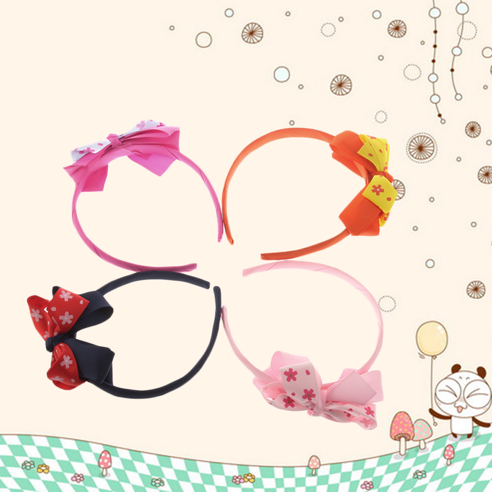 Girls Baby Cute Dot Bow FLOWER Hair Bow Top HEADBANDS.