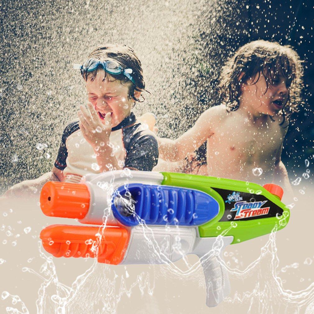 Summer Beach Children Adults Pressurized Water Gun Pull Toy Outdoor Game