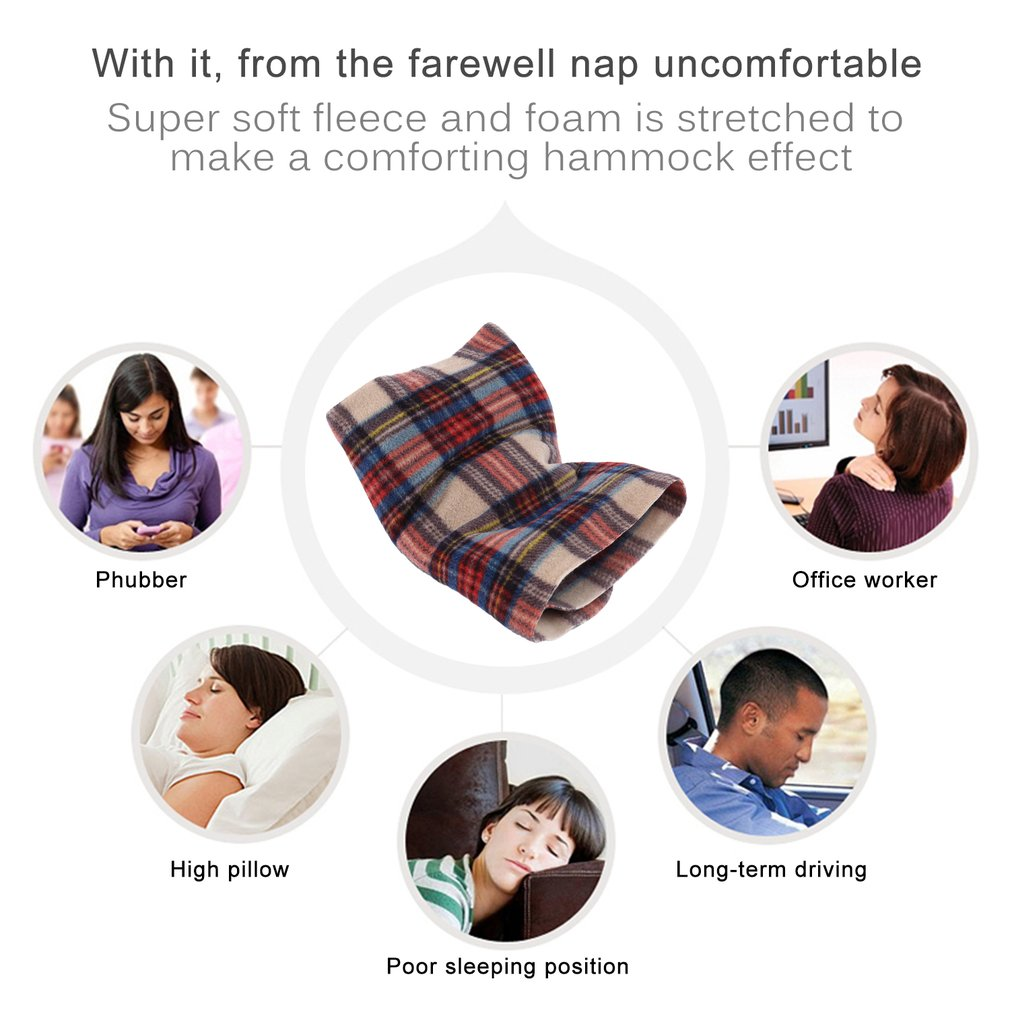 Soft Neck Support Travel Pillow Airplane Inflatable Neck Pillow For Sleep