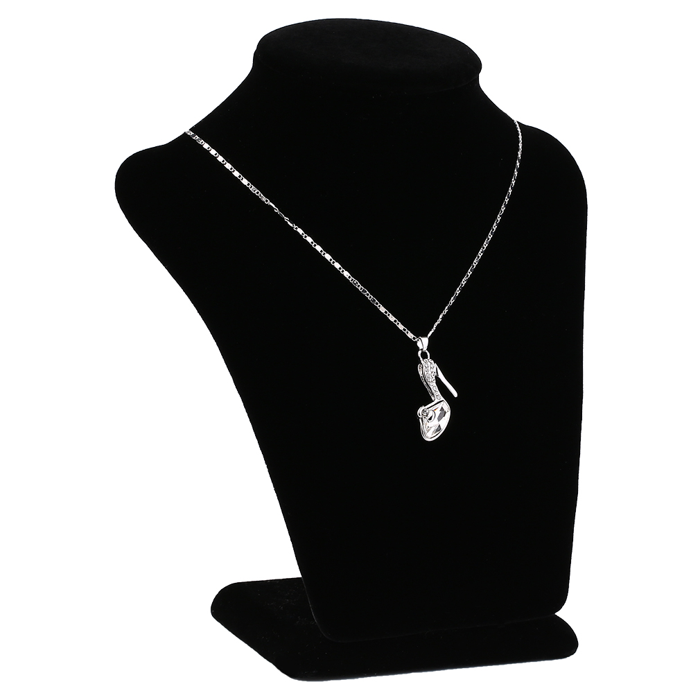 Alloy Simulated Crystal High-Heeled Shoes Pendant Necklace Jewelry For Female