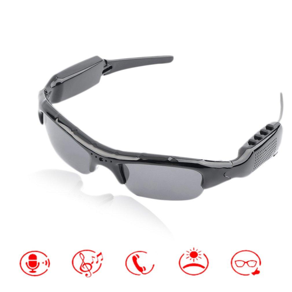 HD 720P MP3 Sunglasses Camera Mobile Eyewear Glasses Video Recorder