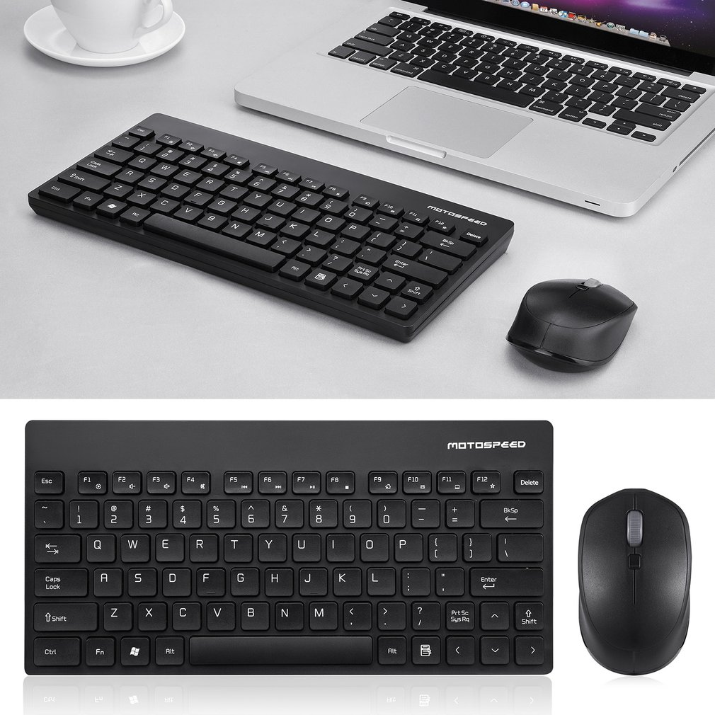 Motospeed G3000 2.4GHZ Wireless Lightweight 1600DPI Keyboard Mouse Set For PC