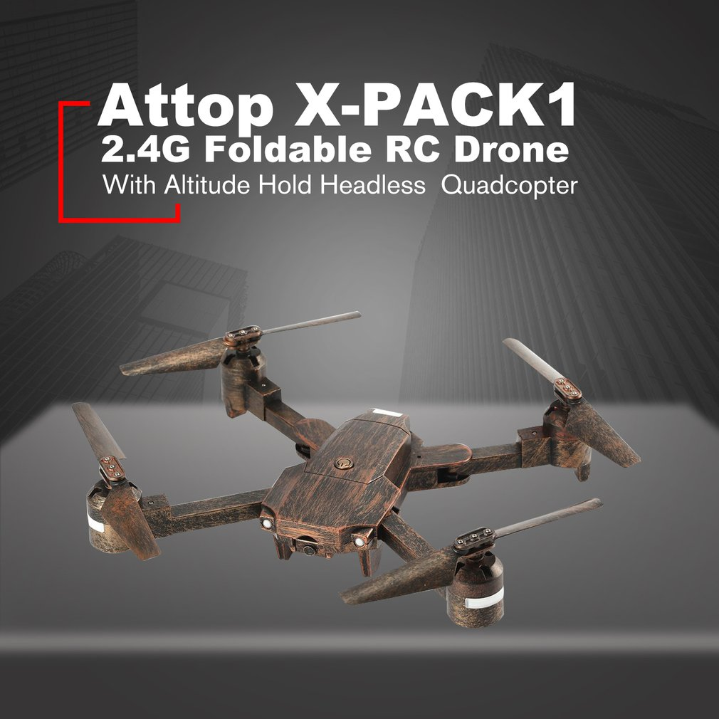 Attop X-PACK1 2.4G Foldable RC Drone Quadcopter with Altitude Hold Headless