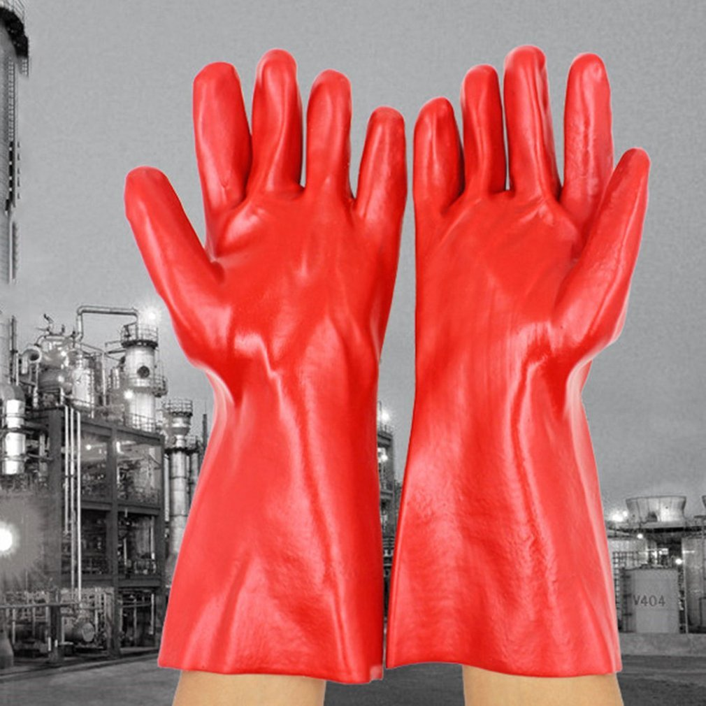 PVC Coated Working Gloves Oil Resistant Acid Resistant Chemical Safety Gloves