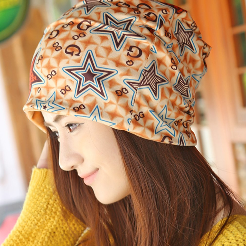 New Unisex Winter Hats Outdoors Cap Beautiful Stars Pattern Couple Hat