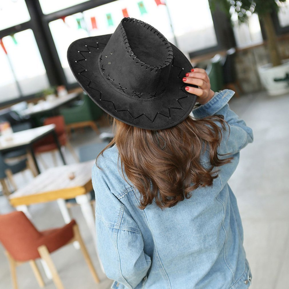 Fashionable Design Breathable Men Women Cowboy Style Hat Summer Outdoor Travel Cowgirl Cowboy Western Headwear Cap
