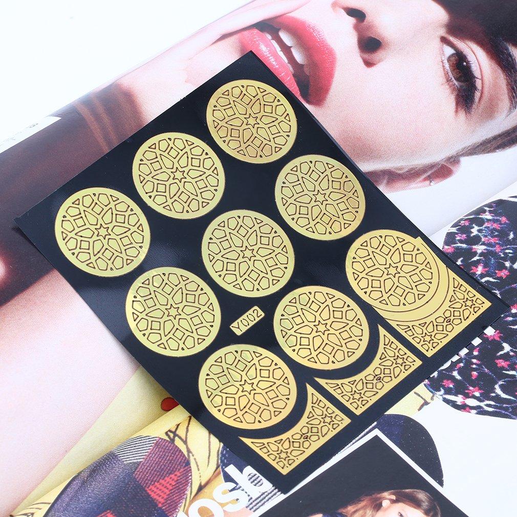 Girls Paste False Nail Art Tips Full Fake French Manicure Fingernails Sticker