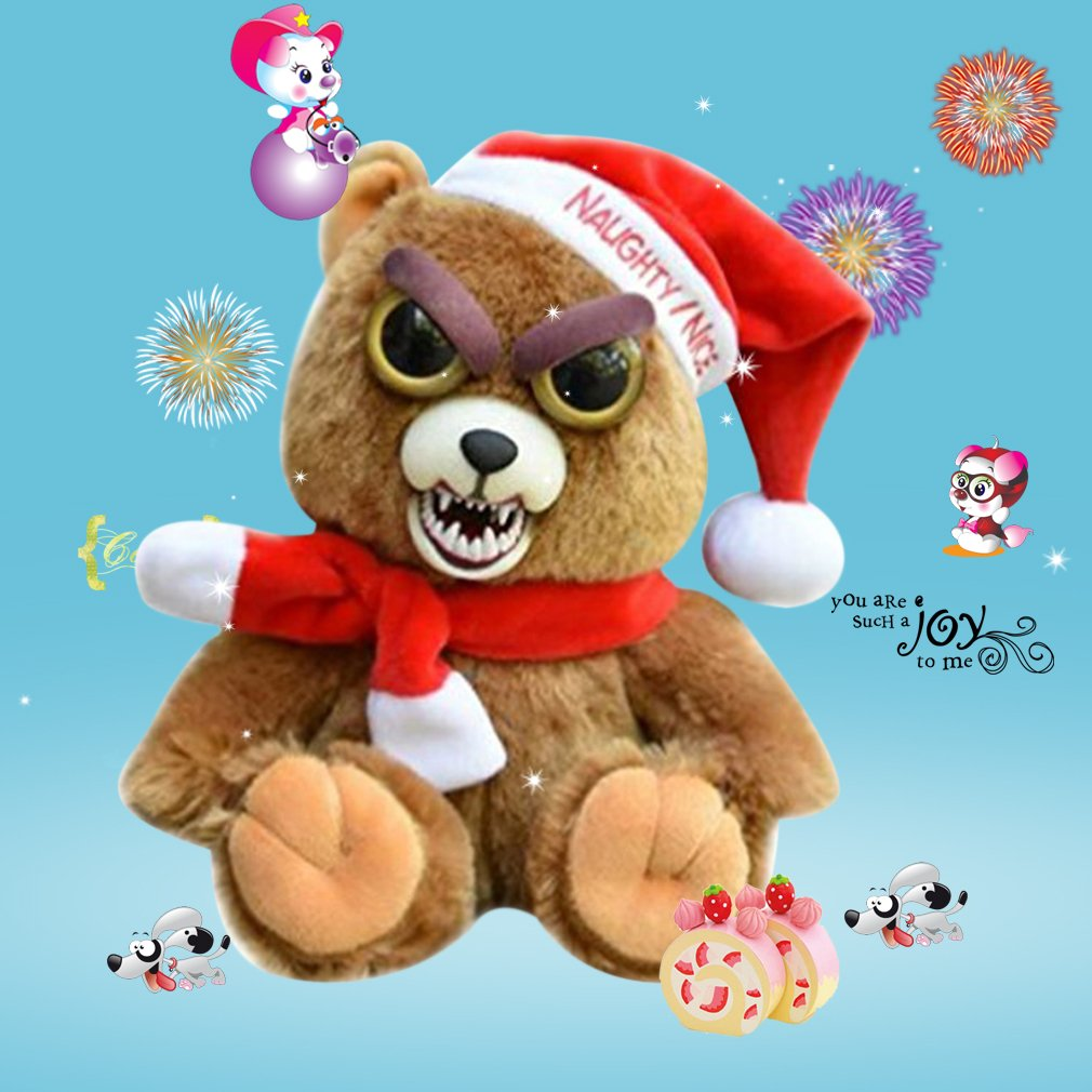 Naughty Facial Expression Change Animal Adorable Stuffed Plush Toys Dolls Gift