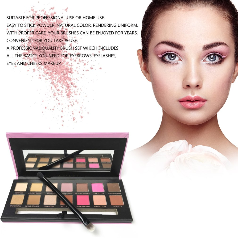 14 Colors Eye Shadow Makeup Shimmer Matte Palette Cosmetics With Brush