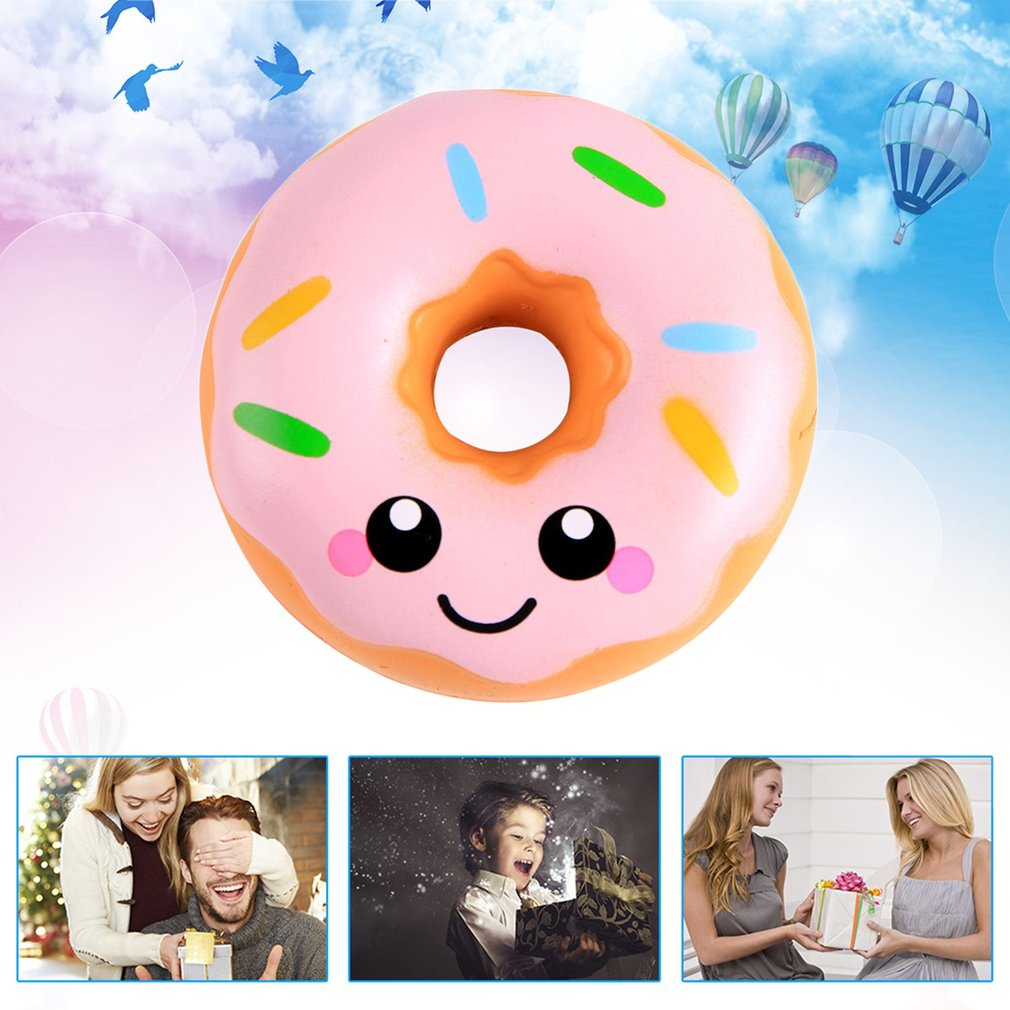 Sweet Smeling Kawaii Donuts Shape Slow Rising Toy for Relieves Stress Anxiety