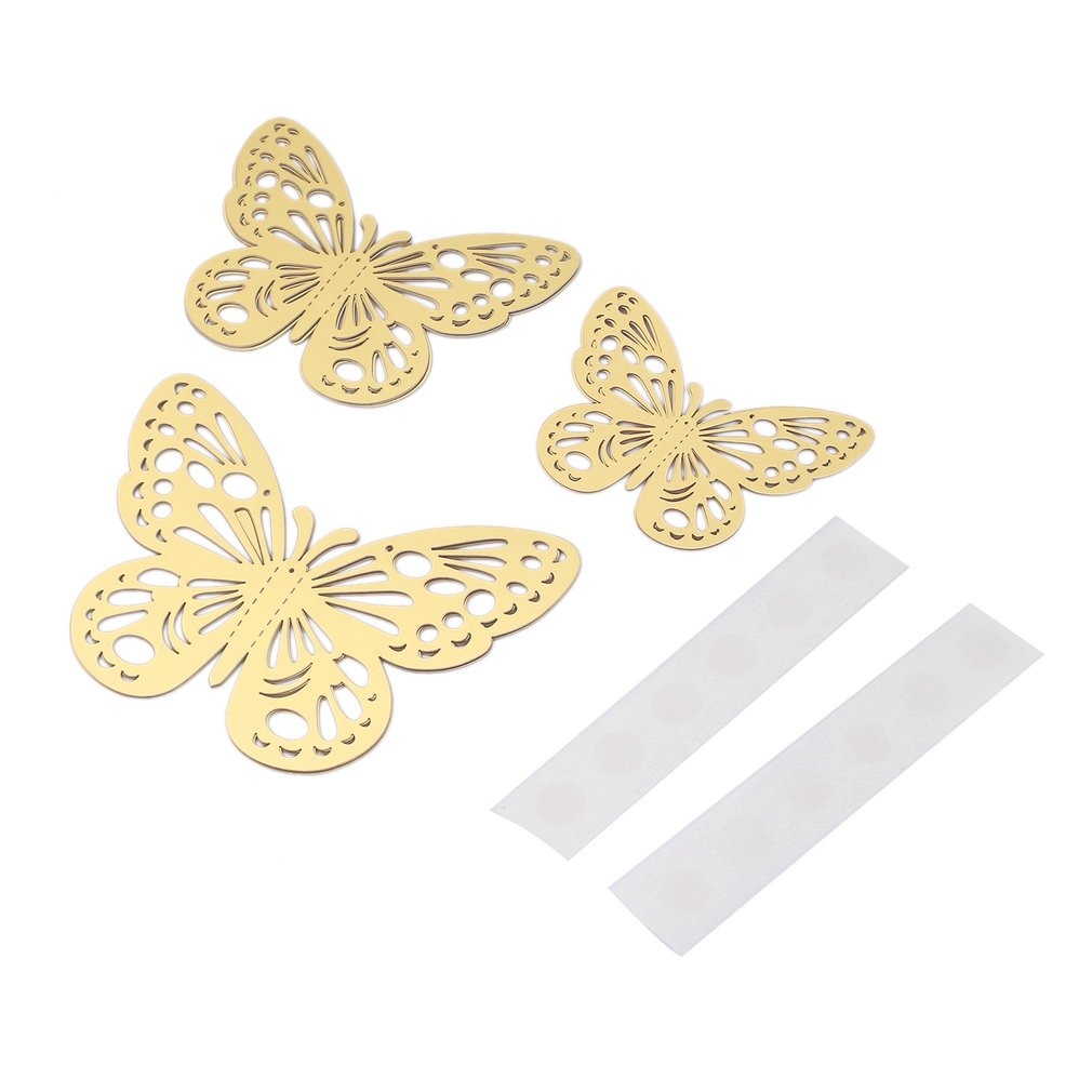 12pcs G-006 3D Butterfly Stickers Hollow DIY Decal Wall Party Wedding Decor